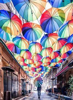 Karaköy, Istanbul - Which City to Travel Turkey Vacation, Turkey Travel, Istanbul City, Istanbul Turkey, Istanbul Travel, Umbrella Street, Earth City, Modern Architects, Bazaar Ideas