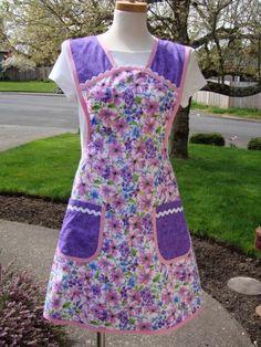 Spring time vintage look apron