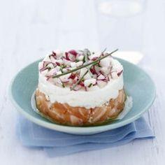 Tartare de saumon et radis croquant au Carré Frais®