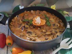Gulasz pieczarkowy Wok, Thai Red Curry, Stew, Ethnic Recipes, Dressing