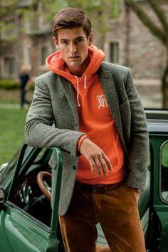 Great match - tweed blazer with corduroys