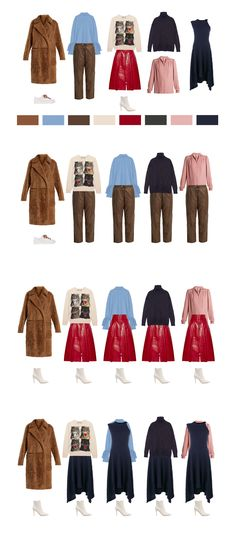 2 Bottoms + 4 Tops + 1 Dress + 1 Coat = 12 Outfits  #capsule_wardrobe  #outfits