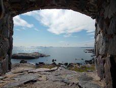 The view from Suomenlinna, Helsinki towards the sea by       Johanna Haaga 2013