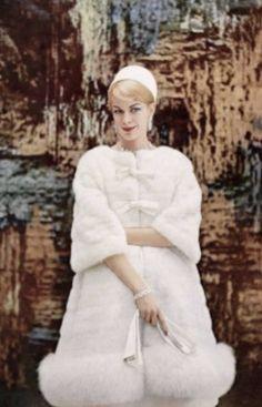 Christian Dior vintage dress and coat ensemble 1960