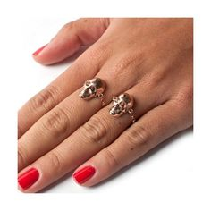 Skulltana Chain Ring (Rose) | LeiVanKash