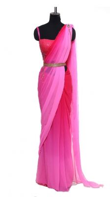 Pink Tonal Saree | Strandofsilk.com - Indian Designers