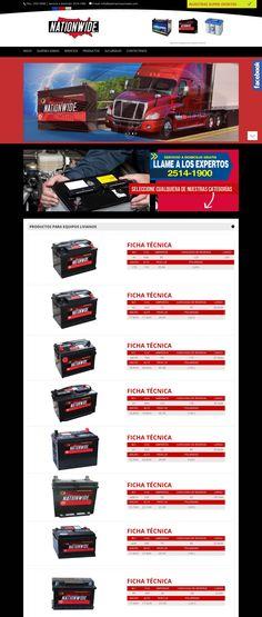 Sitio web que realizé para una empresa de baterias para autos en El Salvador. Todos los derechos reservados son para la empresa que los publicó, yo realicé el diseño, asignación de color, edición de imagenes y más trabajo gráfico. ; ) Negro y rojo para esta categoría