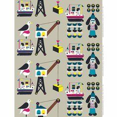 Laiva Koira Marimekko fabric by Jenni Tuominen Textile Patterns, Textile Design, Textiles, Fabric Design, Marimekko Fabric, Scandinavia Design, Yellow Turquoise, Red Balloon, Balloon Ideas