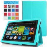 nice MoKo Amazon All New Kindle Fire HD 7 Case - Slim Folding Cover Case for All New Fire HD 7.0 Inch 2013 Gen Tablet, Light BLUE (With Smart Cover Auto Wake / Sleep. WILL NOT Fit 2012 Fire HD 7 / 2013 Fire HDX 7 or HD 7 2014 Gen)