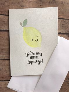 valentines day puns Excited to share this item fro - valentinesday Valentines Day Puns, Valentines Day Cards Handmade, Greeting Cards Handmade, Valentines Watercolor, Watercolor Cards, Watercolor Painting, Pun Card, Card Card, Card Kit