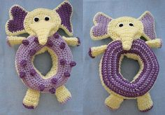 Ravelry: Elephant Themed Toys For Baby pattern by Donna Collinsworth