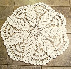 Hand Crochet Wheat Round Doilie, Doily. Click on the image for more information.
