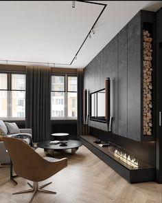 Hall Room Design, Tv Wall Design, Living Room Interior, Bathroom Interior, Behance, Four Rooms, Tv Rooms, Deco Boheme, Deco Design