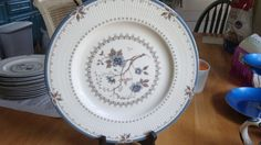 ONE PORCELAIN  DINNER PLATE  OLD COLONY S BY ROYAL DOULTON ENGLAND # 3 #ROUALDOULTON