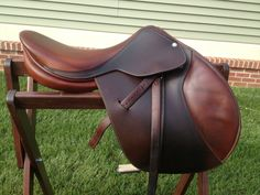 """Beval Butet English Jumping Saddle 16"""" w/extras #Beval"""