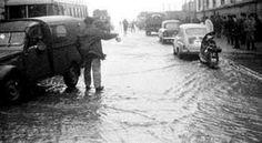 Enero de 1.965 . Una ola cruzó desde el Orzán hasta Juana de Vega #Coruña #dMudanza
