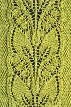 Free Knitting Patterns Lace Panels : Leafy Knitted Lace Panel ? Knitting Bee