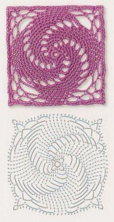Transcendent Crochet a Solid Granny Square Ideas. Inconceivable Crochet a Solid Granny Square Ideas. Motifs Granny Square, Granny Square Crochet Pattern, Crochet Flower Patterns, Crochet Diagram, Crochet Squares, Crochet Flowers, Crochet Doilies, Crochet Ideas, Lace Patterns