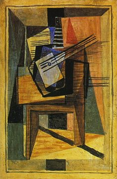 "Pablo Picasso - ""Guitar on a table"". 1919"