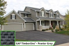 Best Gaf Timberline In Pewter Gray Hardie Cement Board Pre 400 x 300