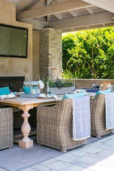 #Coastal Outdoor Living. Classical Beach Home