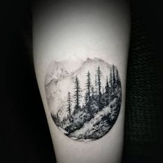 Landscape tattoo done by David. #workproud #wearproud