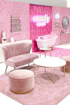 Pop-Up Shop Design Company Beauty Room Decor, Beauty Salon Decor, Salon Interior Design, Commercial Interior Design, Popup Design, Business Office Decor, Boutique Decor, Glam Room, Home Room Design