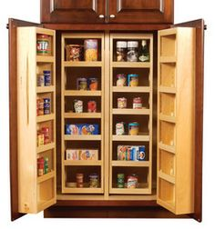 Hafele Maple Wood  Chef's Pantry Organizer | KitchenSource.com