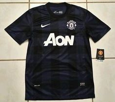 NWT Authentic NIKE  Manchester United BLUE Soccer Jersey Men's Medium