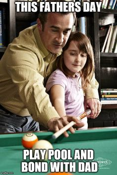 This fathers Day the perfect gift is just playing pool with Dad. Pick your favourite pool hall, community centre, friends house, arcade or even your own home. Play pool and Bond with Dad Brunswick Pool Tables, Play Pool, Arcade, Fathers Day, Bond, Centre, Special Occasion, Community, Baseball Cards