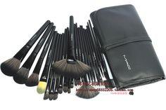 Brand new M 24 wool cosmetic brush set 24 professional makeup brush set  free shipping