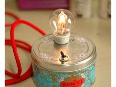 Fabriquer une lampe avec une boîte à thé • Hellocoton.fr