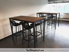 Eiken sloophout horeca tafels erg mooi als eettafel salontafel