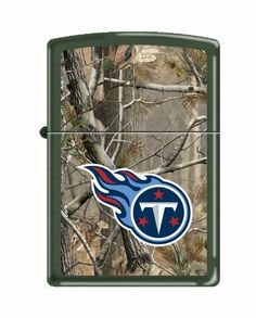 NFL Tennessee Titans Realtree Zippo Lighter by Zippo. $29.99. Made in USA. Officially licensed by the NFL and Realtree. Lifetime Guarantee from Zippo. Easily spark a flame with this NFL® Zippo® RealTree® cigarette lighter. It features a flip-open top, boasts a brushed chrome construction, and is boldly decorated with vibrant team graphics on the side.