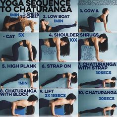 YOGA SEQUENCE TO CHATURANGA: Whether you can or cannot YET do a push up/tricep p...
