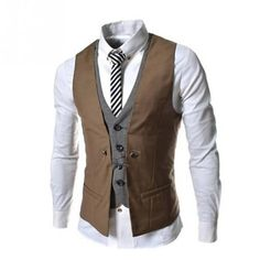 ac3ff97a618 2018 Fashion Sleeveless Jacket Waistcoat Men Suit Vest Male British Style  Slim Cotton Single breasted Vintage Vests. Estilo NerdMen CasualCasual ...