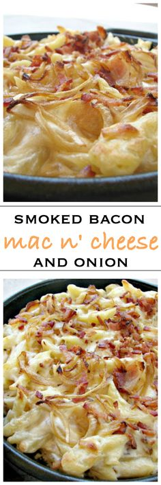 Creamy bacon and onion mac and cheese | Foodness Gracious