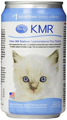 KMR Liquid Milk Replacer for Kittens  Cats 8oz Cans Case of 12 wNursing Kit -- For more information, visit image link.