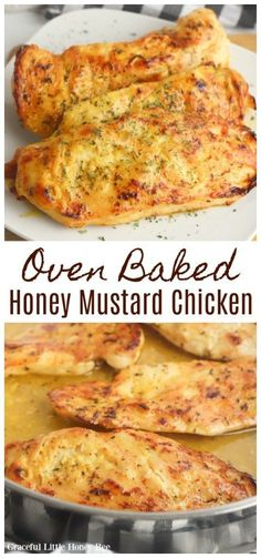 Try this quick and easy oven baked honey mustard chicken recipe for a protein packed dinner that is full of flavor. The whole family is sure to love it!