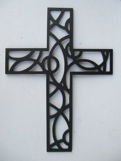Cross Metal Wall Art 12 Inches by ApolloMetalArt on Etsy, $29.99