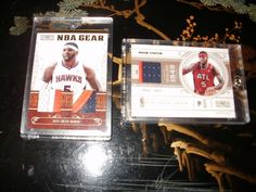 Josh Smith Hawks 2011 Panini NBA Gear Card National Treasures Set of 2 #AtlantaHawks