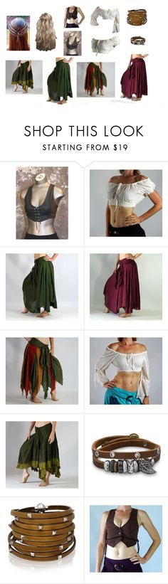 """""""Ren Faire costume: gypsy/ belly dancer"""" by hunterrallen ❤ liked on Polyvore featuring BillyTheTree and Sif Jakobs Jewellery"""