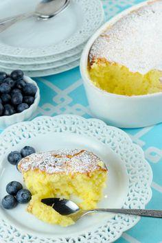 Meyer Lemon Custard Cake http://kitchenconundrum.com/2015/01/meyer-lemon-custard-cake/