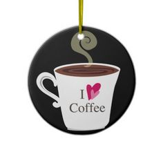 Personalized Custom Coffee Christmas Tree Ornament