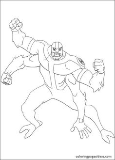 Four Arms The Aliens Ben 10 Coloring Pages