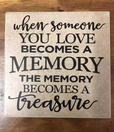 This is a ceramic tile with vinyl application. The tile is approximately 6 x The tile is beige but vary in shade. Black professional grade vinyl is cut and applied to tile. Each tile comes with a black wire stand for display. Textured Brick Wallpaper, Tile Crafts, Tile Projects, Great Words, Decorative Tile, Making Memories, When Someone, Friendship Quotes, Grief