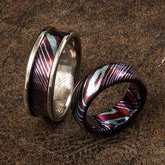 8mm Flat Simple Timascus wedding ring Wedding Rings Pinterest
