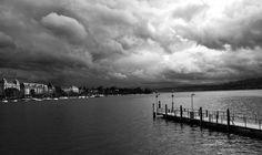 #darkclouds #zurich #lake
