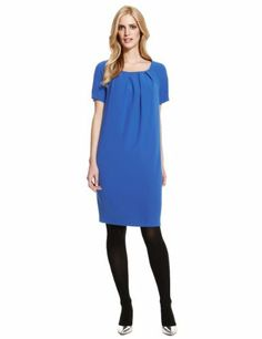 M&S Collection Pleated Tunic Dress - Marks & Spencer
