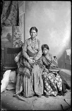 Navajo mother and child~Circa 1880